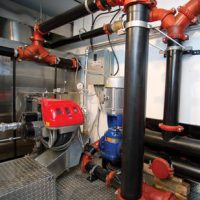 mobile unit burner and pipes