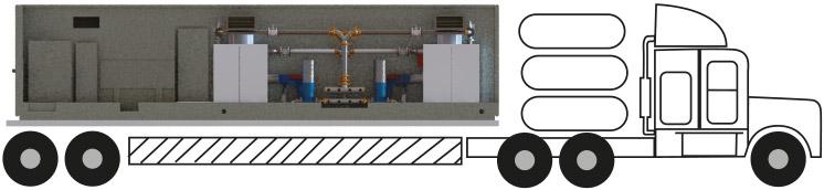 Mobile boiler unit mock-up diagram
