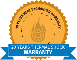 The Gasmaster seal of warranty for the boiler heat exchanger against against thermal shock