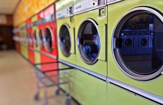 The average water used to clean a pound of cloth is 2 gallons but can be reduced by taking steps to improve efficiency.