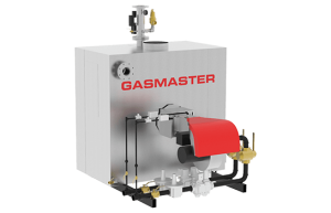 Gasmaster GMI Series GMI 4M BTU dual gas high-efficiency condensing boiler.