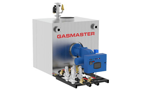 Gasmaster GMI Series GMI 8M BTU dual gas high-efficiency condensing boiler.