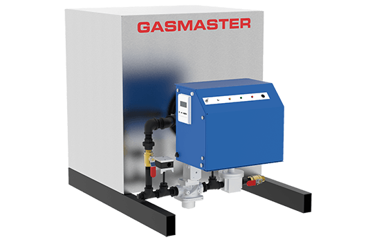 Gasmaster HC Series HC 1000 1M BTU high-efficiency condensing boiler.