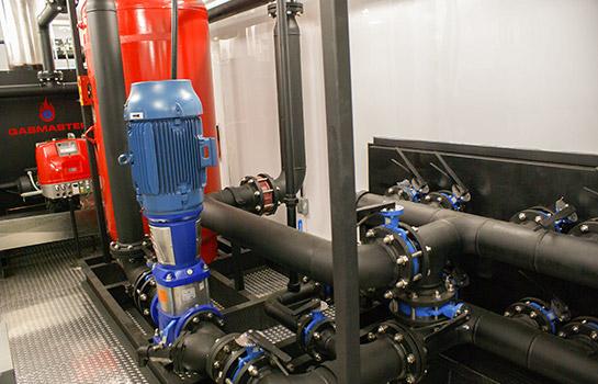 Interior of Gasmaster Custom Mobile Boiler Unit Intricate Piping