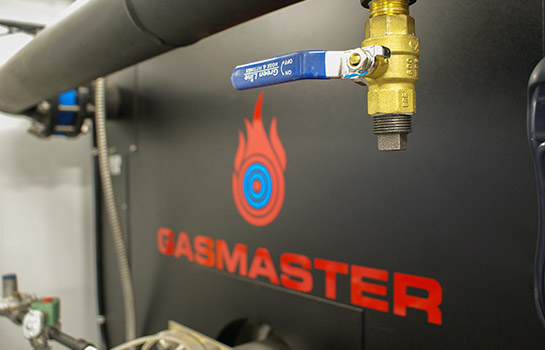 Interior of Gasmaster Custom Mobile Boiler Unit Closeup of GMI 12M