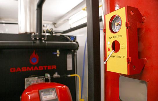 Interior of Gasmaster Custom Mobile Boiler Unit Closeup of Monitor