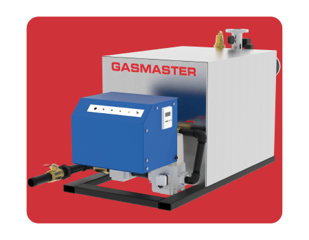 Gasmaster HC Series HC 2500 2.5M BTU high-efficiency condensing boiler.