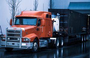 Mobile boiler unit semi-truck