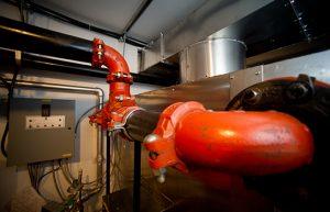 Mobile unit interior pipes